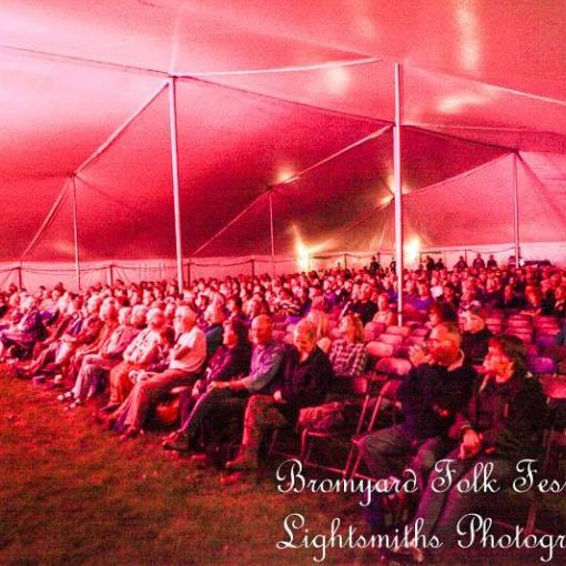 Friday evening's audience at Bromyard Folk Festival